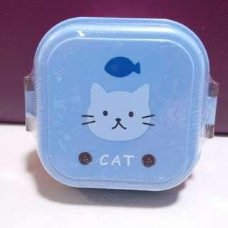 日本全新貓貓雙層食物盒 零食盒 box