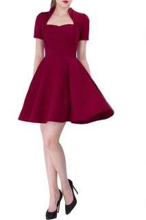 Maroon doublewoot dress