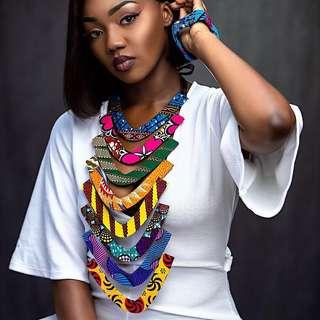 African necklace earrings and Bangles