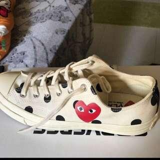 Authentic CDG Converse polka dot