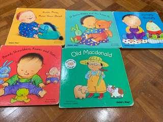 1 set of 5 Children books by Child's play
