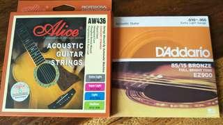Capo, acoustic/classical/electric guitar strings, ukulele strings, straps, tuners,  foot stands, ukulele shaker and etc