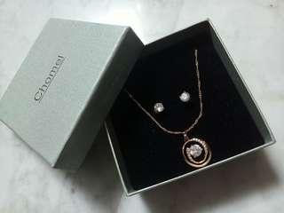 Chomel Necklace and Earring Set