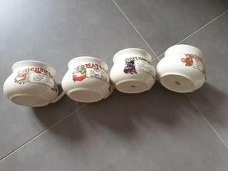 4 Soup Bowls - Mangkuk Sup