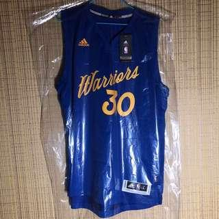 Men's Golden State Warriors Stephen Curry Adidas Royal 2016 Christmas Day Swingman NBA Jersey Size L