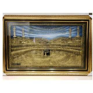 Islamic Art Kabah in Gold finish