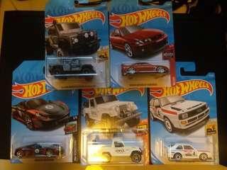 (SF到付優惠) Hot wheels 5 car bundle