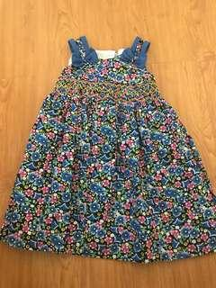 Chelle and Ashley Floral Blue Dress
