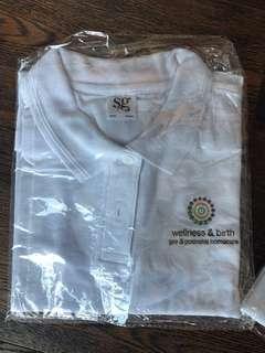 NEW Polo shirt, white S, M , L
