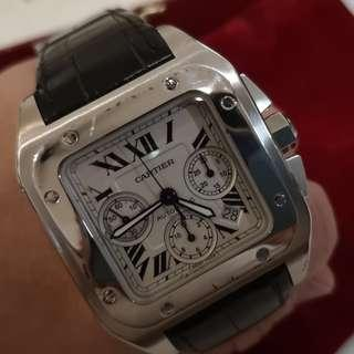 Genuine Cartier Santos XL chronograph  mens