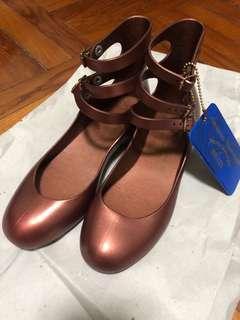 二手 melissa x Vivienne Westwood 8成新 3扣 平底鞋