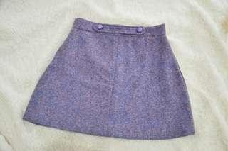 purple tweed skirt