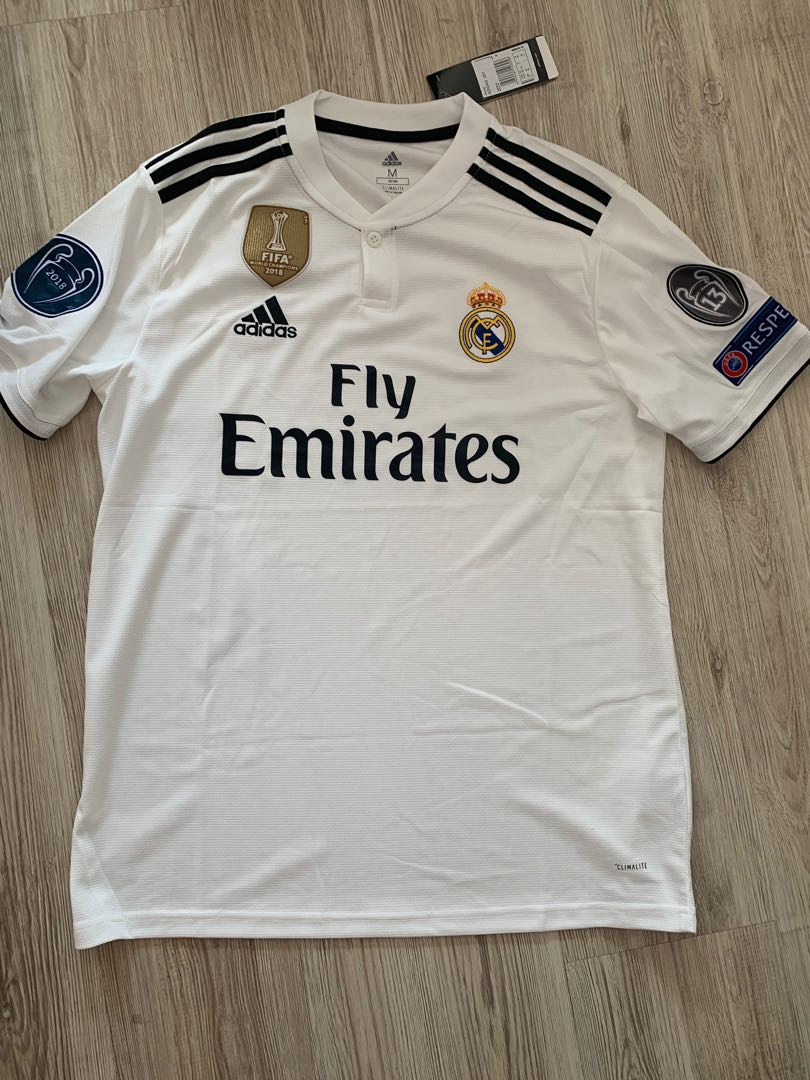 a3d140c6f 18 19 Real Madrid jersey Real Madrid kit Real Madrid home kit ...