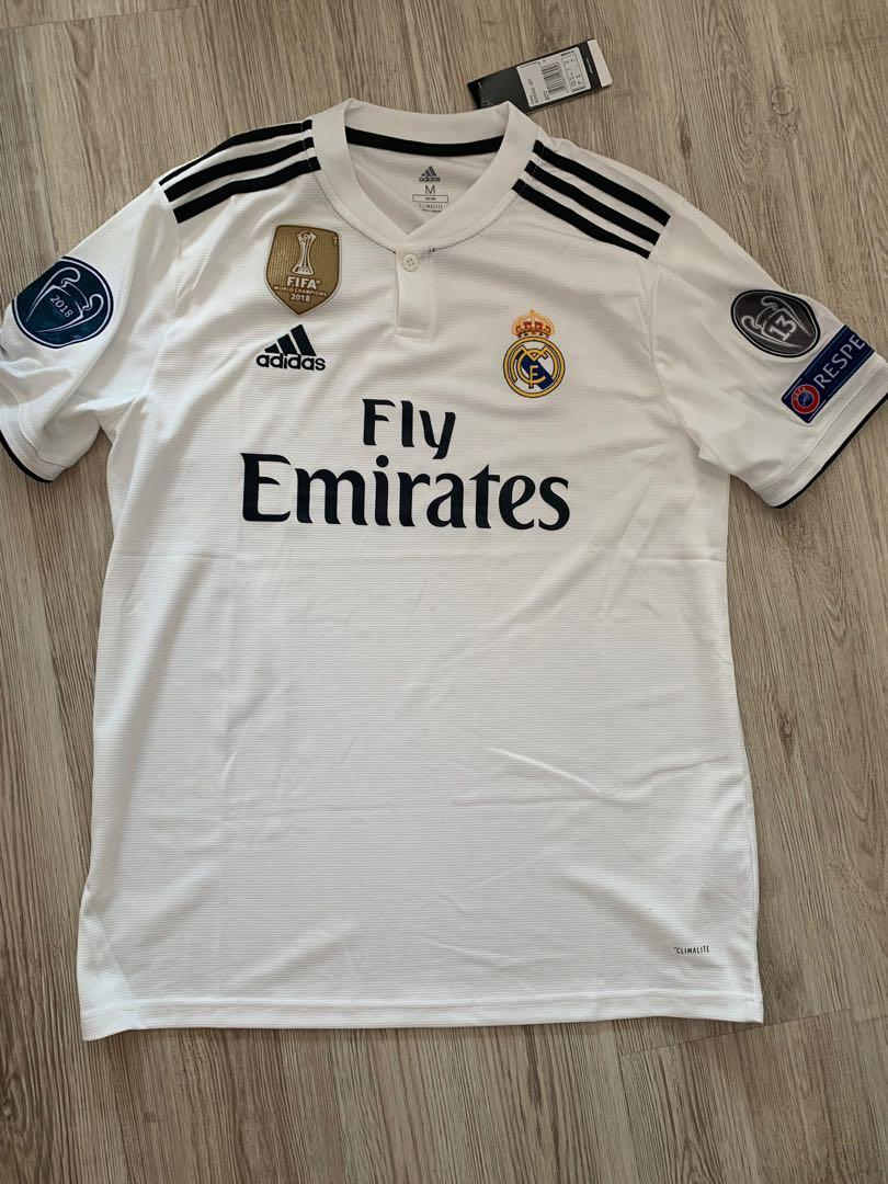 purchase cheap 3fbc6 7a00d 18/19 Real Madrid jersey Real Madrid kit Real Madrid home ...