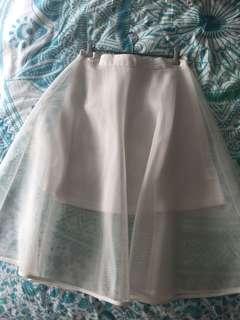 White mesh skirt