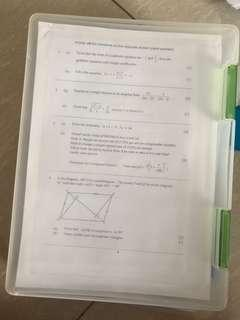 Secondary 3 emaths practise papers