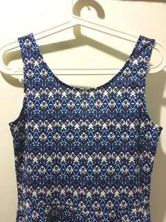 H&M Dress Blue Tribal