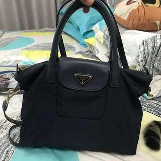 Authentic Prada Nylon Bag (Navy)