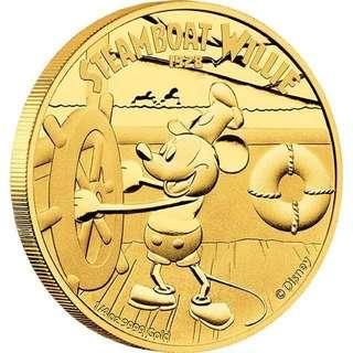 DISNEY – STEAMBOAT WILLIE 2014 1/4OZ GOLD PROOF COIN