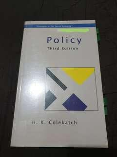 Policy by Colebatch