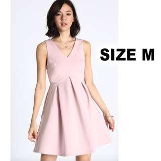 🚚 Love, Bonito Nadane Box Pleats Dress in Dusty Pink