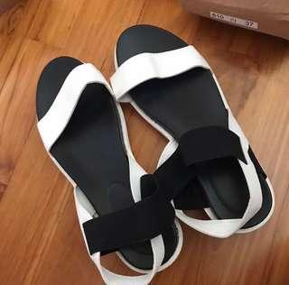 White Basic Sandals