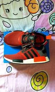 Brand New Adidas Lush Red NMD R1 Runner Sneaker.