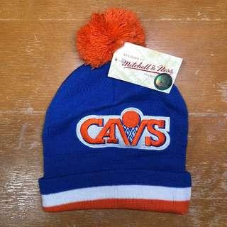 Cleveland Cavs M&N Cuff Knit Bobble Hat NBA 冷帽