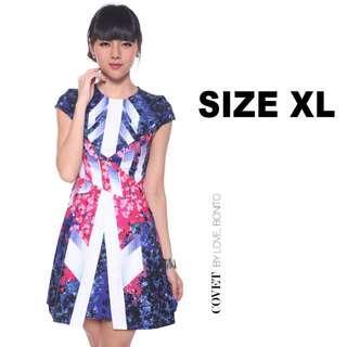 🚚 🏮 [CNY] Love, Bonito Covet Galena Graphic Printed Dress