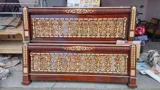 Tmpt tdr seribu bunga no 1 ukurna 200x180 .full kayu jati .