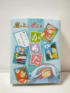 Authentic ponyo japanese character card
