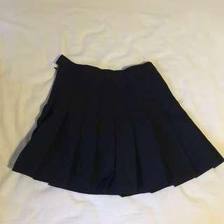 AA inspired navy tennis skirt