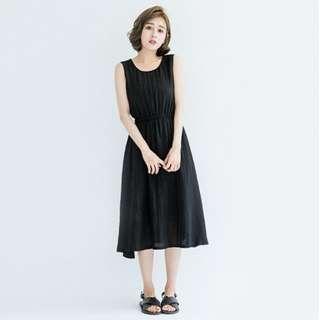Queen Shop Black Sleeveless Dress
