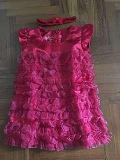 CNY red dress for 6-12mths