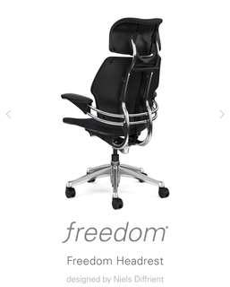 Human scale freedom headrest
