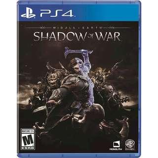 PS4 games Middle earth Shadow of war Middle of earth