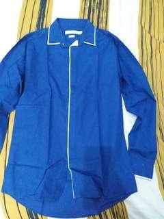 TOPMAN formal blue shirt slimfit