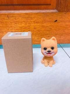 🚚 博美狗 模型 硬陶瓷材質 擺設