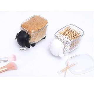(Ready stocks) Toothpicks / cotton buds / paper clips / binder clips container