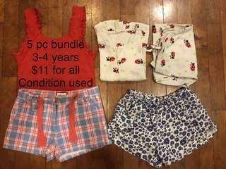 5 piece bundle for age 3-4 years