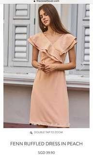 BNWT TheClosetLover Fenn peach ruffles dress