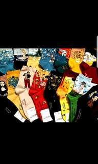 Famous painting designed socks / Unique Socks / Arts lovers socks / Statement Socks