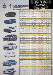 Mitsubishi low cashout promo