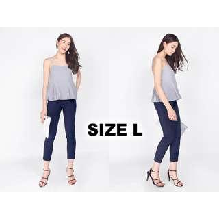 🚚 Fayth Citizens High Waisted Pants in Navy Blue
