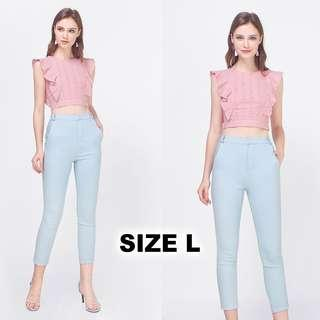🚚 BNWT Fayth Citizens High Waisted Pants in Pastel Blue