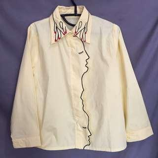 yellow embroidery shirt / kemeja