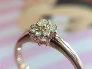 💖✨❤️ 18K玫瑰金 天然鑽石戒指 ❤️✨💖