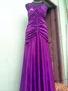 Purple Plus Size Long Gown