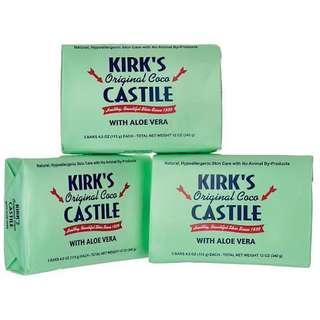 Kirk's Natural Original Coco Castile with Aloe Vera