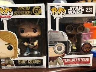 Pop! ROCKS - Kurt Cobain & Star Wars Young Anakin Skywalker